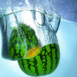 Watermelon in the water — Stock Photo