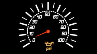 Indicator showing Manometer for measuring tire pressure . psi — Stock Video