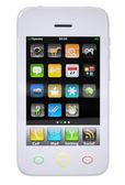 White smartphone — Stock Photo