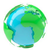 Stylized globe — Stock Photo