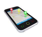 Smartphone with Navigation — Stockfoto