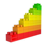 Staircase of colored children's blocks — Stock Photo