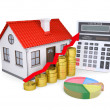 The growth in property prices - Stock Photo