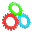Three colorful gears — Stock Photo #18024143