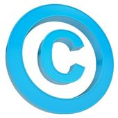 Blue sign copyright — Stock Photo