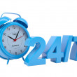Clock with the inscription 24/7 — Stockfoto