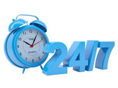 Clock with the inscription 24/7 — Stock Photo