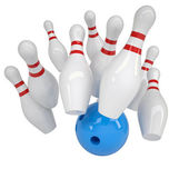 Bowling illustration — Stock Photo