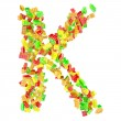 The letter is made up of children's blocks — Stock Photo #23344144