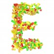 The letter is made up of children's blocks — Stock Photo #23344324