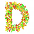 The letter is made up of children's blocks — Stock Photo #23344358