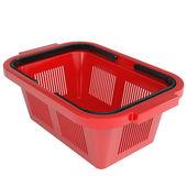 Red shopping basket — Stock Photo
