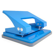Blue office hole punch — Stock Photo