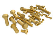 Brass bolts — Stock Photo