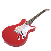 Red electric guitar — Stock Photo