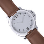 Mechanical wristwatch with a leather strap — Foto de Stock