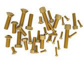 Brass bolts — Stock Photo