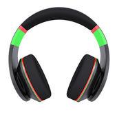 Stylish black headphones — Stock Photo