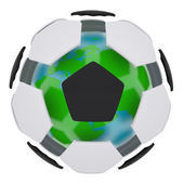 Soccer ball consisting of unconnected parts — Stockfoto
