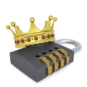 Crown on the combination lock — Stock Photo