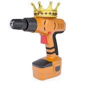 Orange-schraubendreher und eine krone — Stockfoto