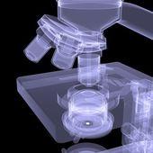 Microscope. X-ray render — Stock Photo