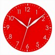 Red clock face — Stock Photo #29966579