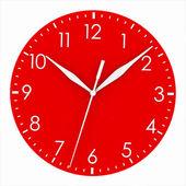 Quadrante orologio rosso — Foto Stock