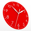 Red clock face — Stock Photo