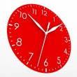 Red clock face — Stock Photo #29995869