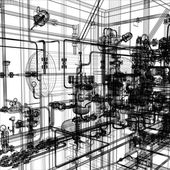 Industrial equipment — Stock Vector