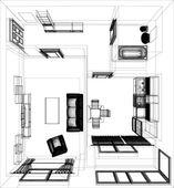 расположение квартиры — Cтоковый вектор