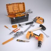 Toolbox and tools — Stock Photo