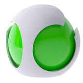 3d green abstract sphere — Stock Photo