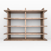 Wooden shelves — Foto Stock