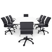Office chairs and round table — Stock Photo
