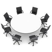 オフィスの椅子と丸いテーブル — ストック写真