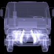 Big truck. X-ray — Stock Photo