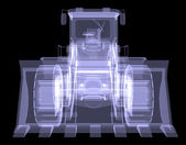 Bulldozer. X-ray — Stockfoto