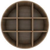 Schappen in de vorm van een cirkel — Stockfoto