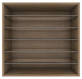 Wooden and glass shelves — Stock Photo