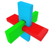 Colorful abstract 3D shape — Photo
