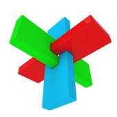 Renkli soyut 3d şekil — Stok fotoğraf
