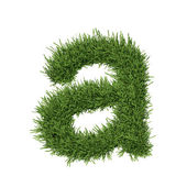 Letter of the alphabet made from grass — Stock Photo