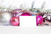 Arrangement of Christmas tree decorations — Stock Photo