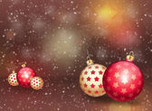 Christmas balls on abstract background — Stock Photo