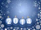 2014 with reflections and snow — Stock Photo