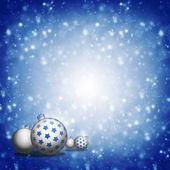 Palle di natale su sfondo blu — Foto Stock