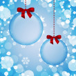 Transparent Christmas decorations — Stock Photo