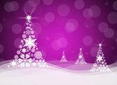 Christmas tree from white snowflakes — Stock Photo